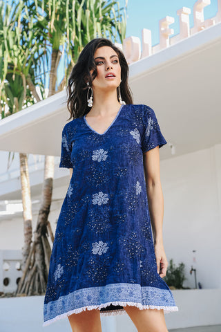 Hazel Dress Navy - Kabana Shop