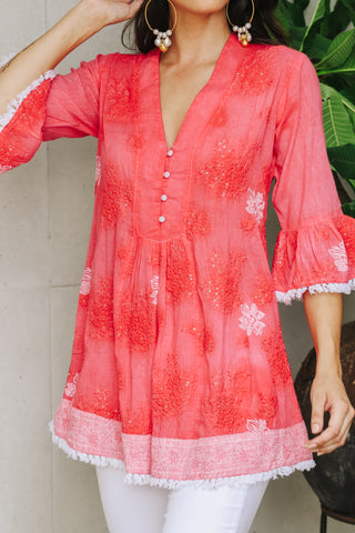 Hazel Tunic Melon - Kabana Shop
