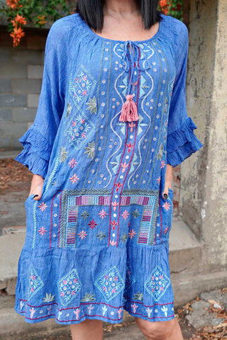 Lulasoul Liliana Dress Indigo - Kabana Shop