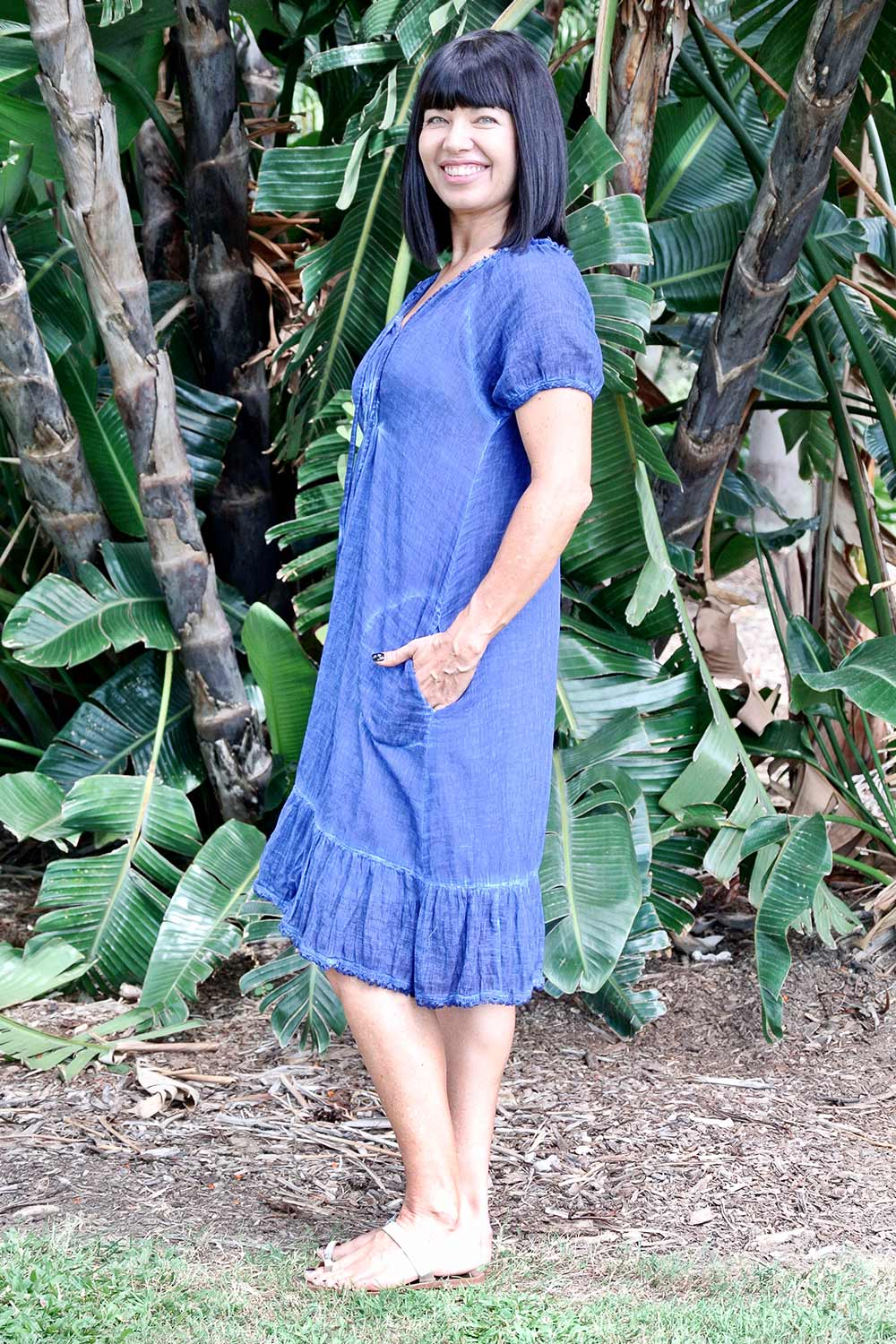 Monterey Dress Navy - Kabana Shop