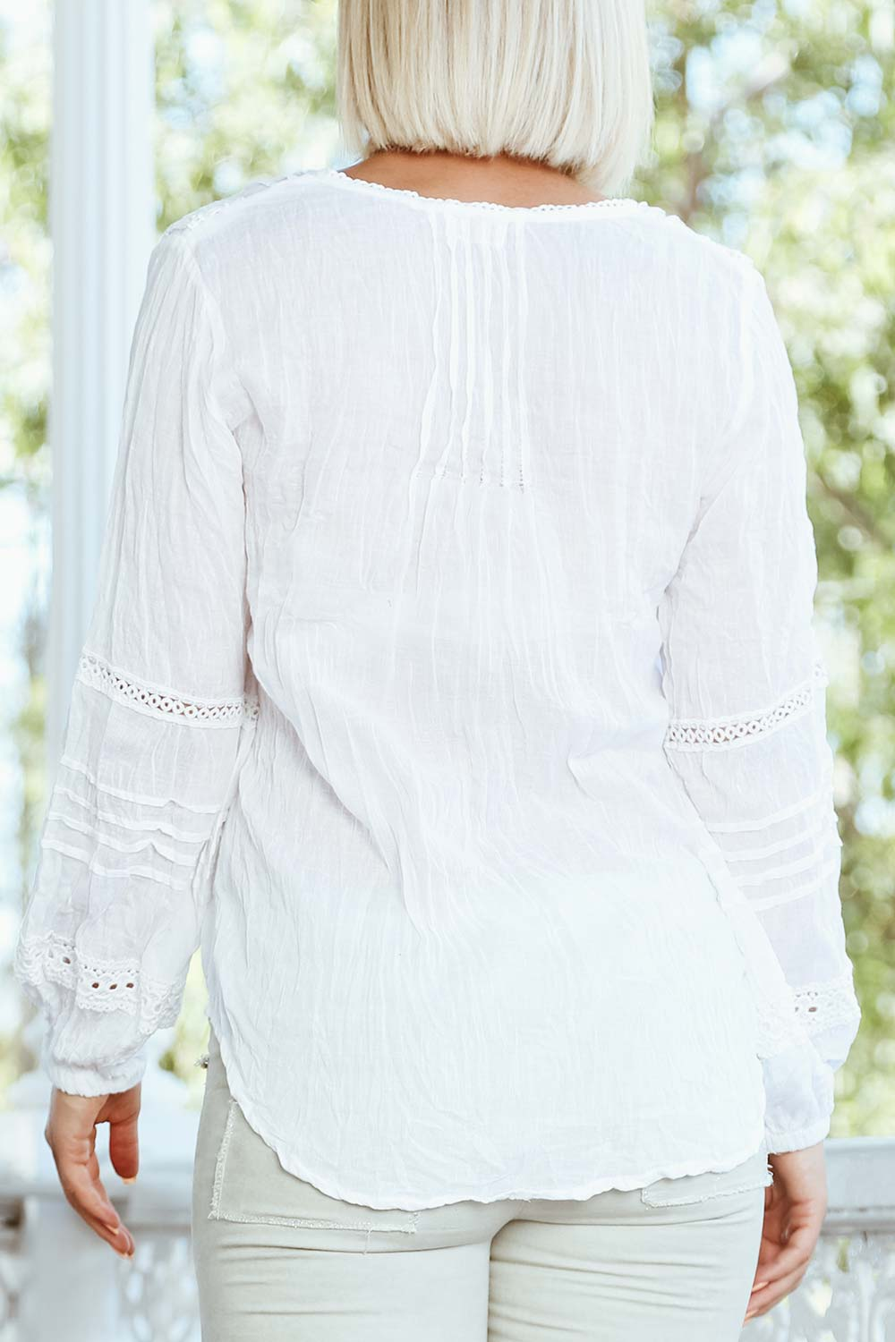 Amelia Shirt White - Kabana Shop