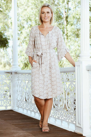 Elsie Dress Latte - Kabana Shop