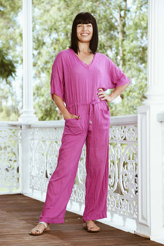 Jive Jumpsuit Fuschia - Kabana Shop