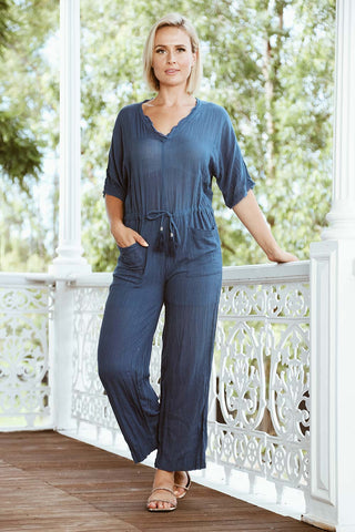 Jive Jumpsuit Navy - Kabana Shop