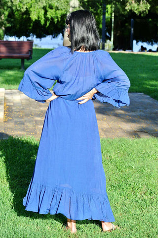 Nellie Dress Cobalt - Kabana Shop