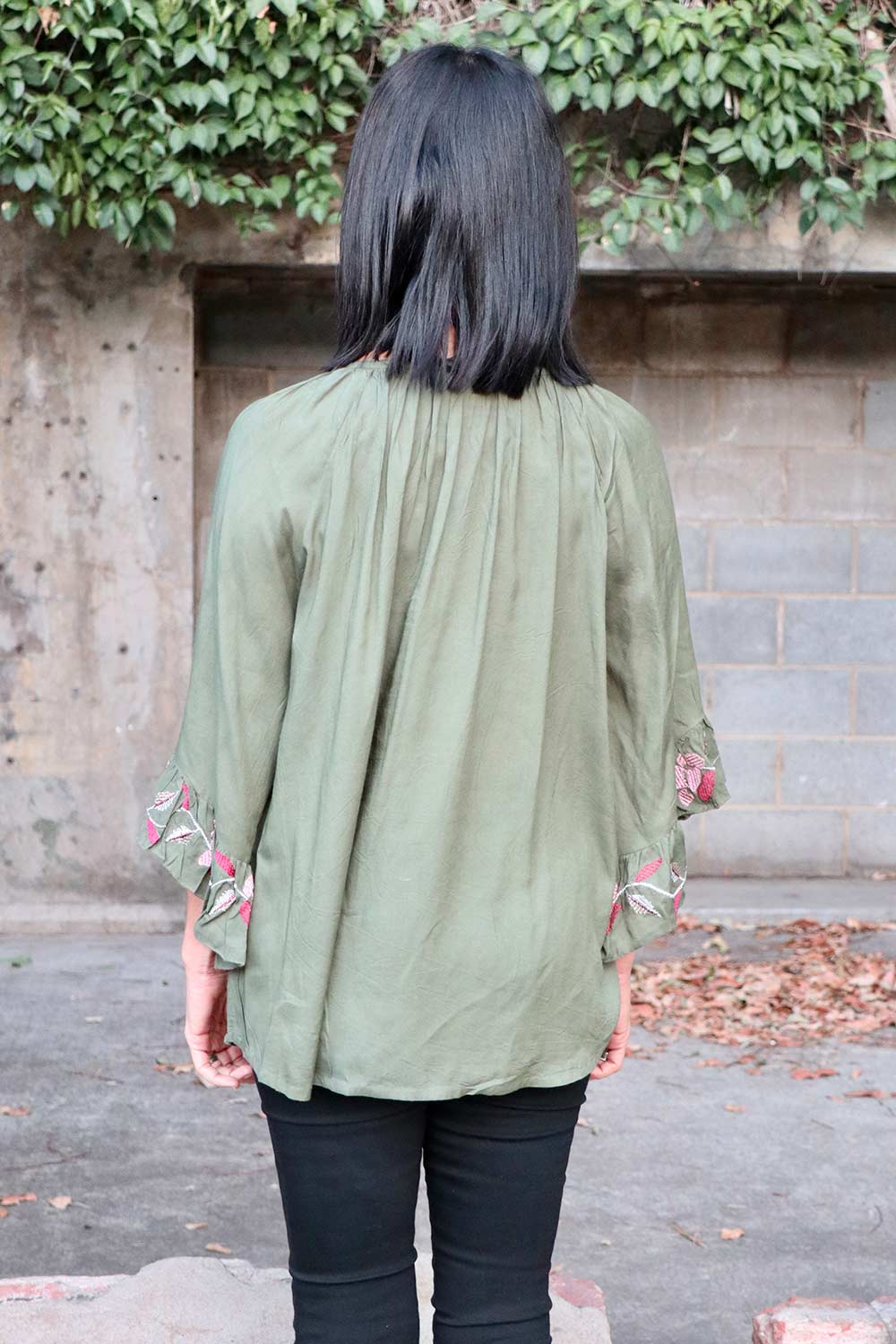 Scarlett Top Khaki - Kabana Shop