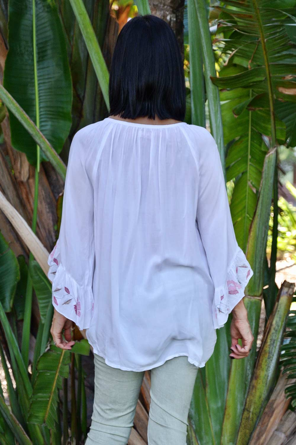 Scarlett Top White - Kabana Shop