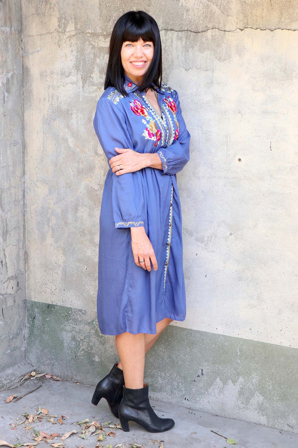 Tilli Dress Indigo - Kabana Shop