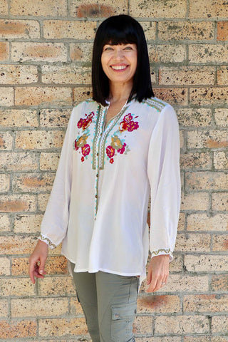 Tilli Shirt White - Kabana Shop