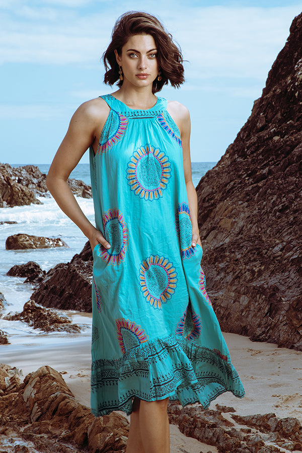 Eva Halter Dress Sea - Kabana Shop