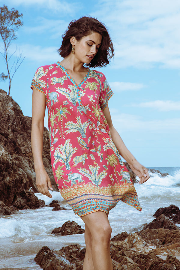 Pooja Dress Melon - Kabana Shop