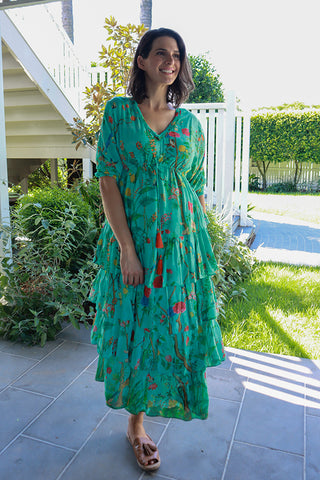 Xen Tiered Maxi Aqua - Kabana Shop