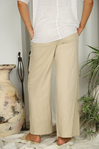 Linen Medusa Pant Natural - Kabana Shop