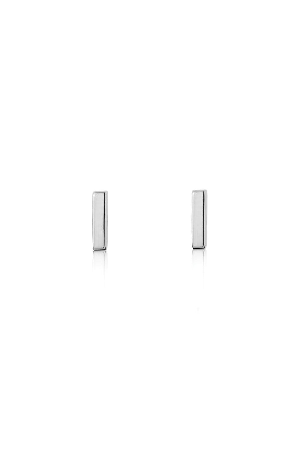 Mini Bar Stud Earrings Sterling Silver - Kabana Shop