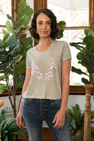 Angel Wings T-Shirt Natural - Kabana Shop