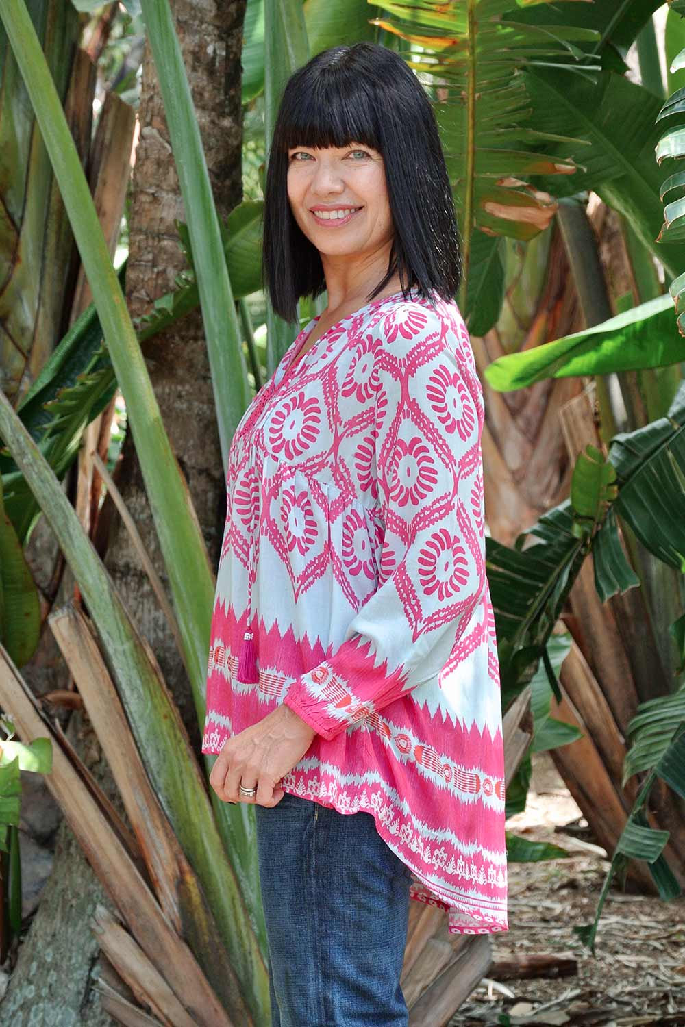 Batik Top Pink - Kabana Shop