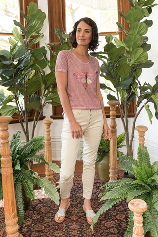 Dragonfly T-Shirt Pink - Kabana Shop