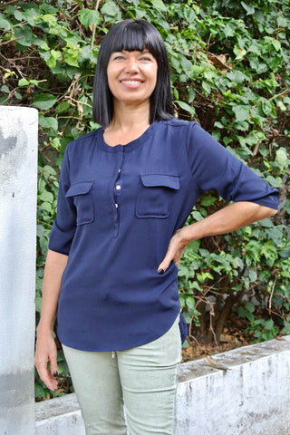 Eliza Top Blue - Kabana Shop