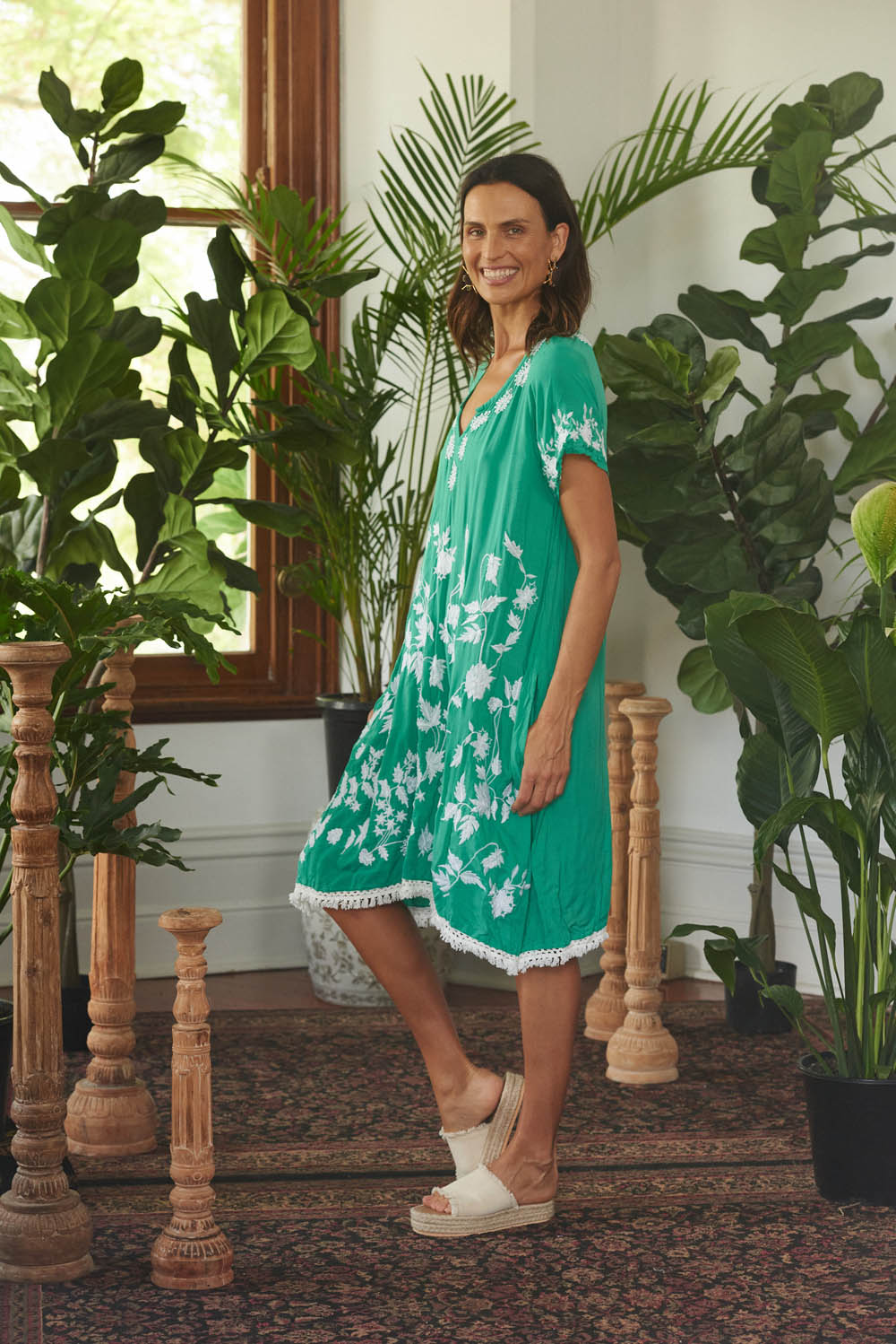 Georgia Dress Green - Kabana Shop