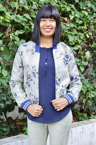 Jacquard Jacket Navy - Kabana Shop
