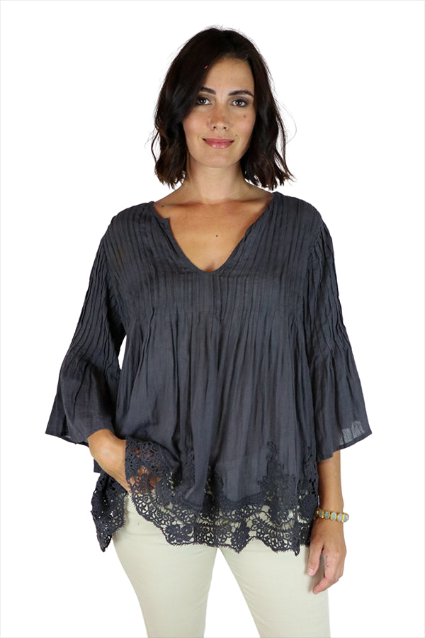 Margot Shirt Charcoal - Kabana Shop