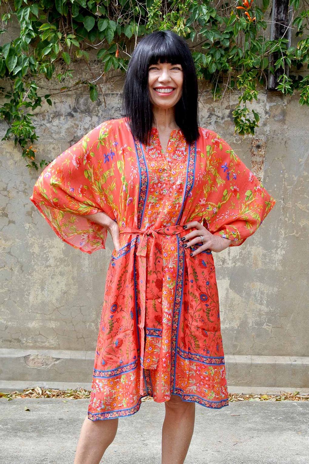 Sophia Dress Orange - Kabana Shop
