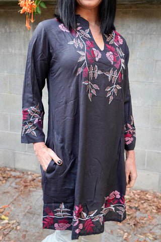 Scarlett Tunic Ink - Kabana Shop