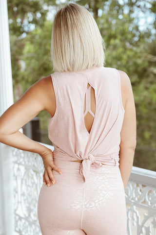 Split Back Tank - Tinted Rose - Kabana Shop