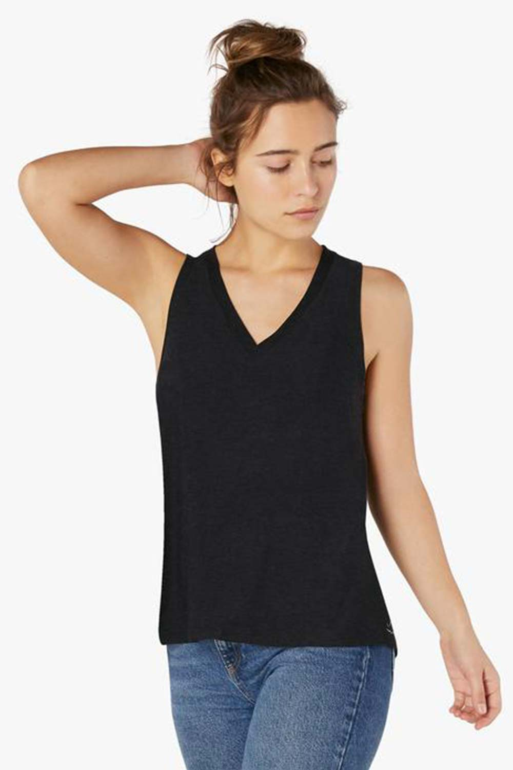 Split Back Tank - Darkest Night - Kabana Shop