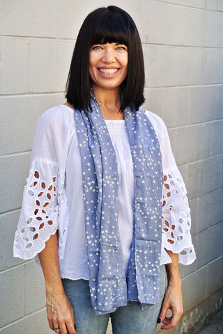 Starry Night Scarf Denim - Kabana Shop