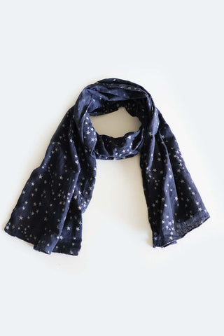 Starry Night Scarf Navy - Kabana Shop