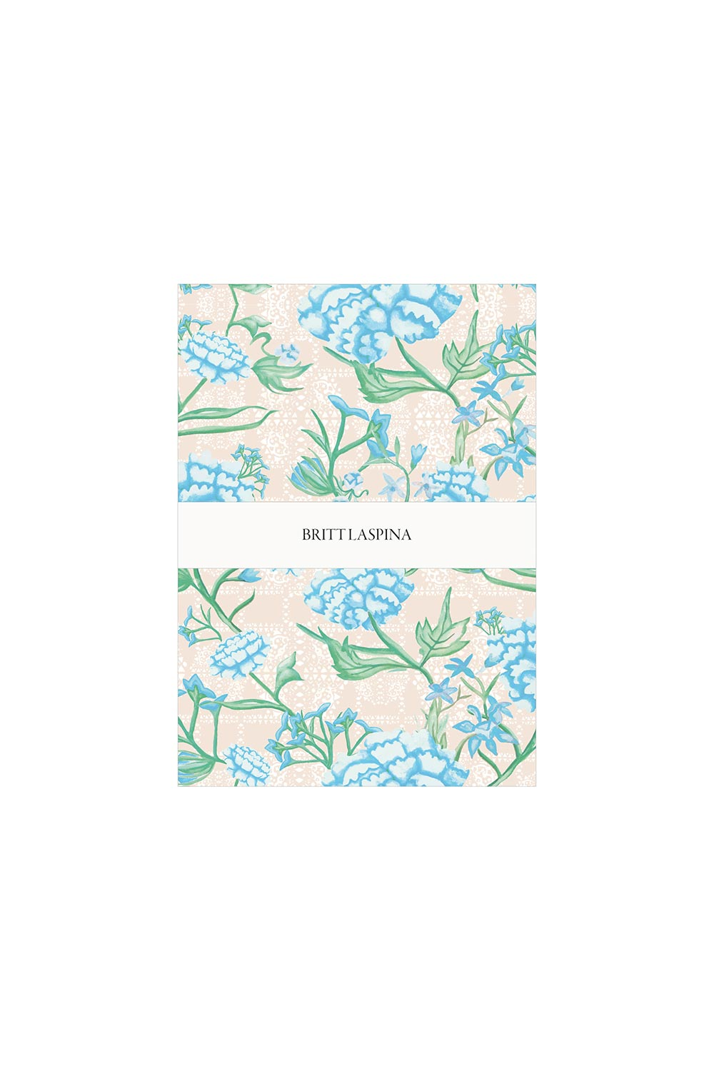 Britt Laspina Tea Towel - Blue Peonia - Kabana Shop