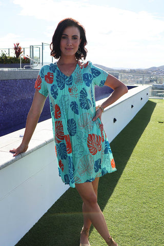 Grenada Dress Green - Kabana Shop