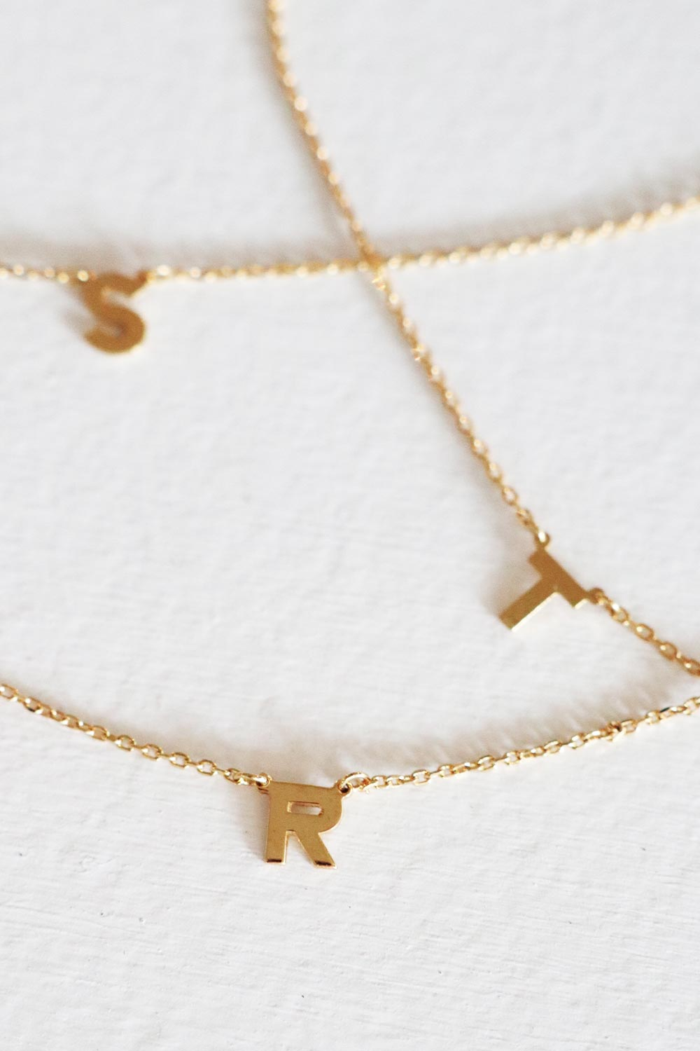 Initial Letter Necklace Gold - Kabana Shop