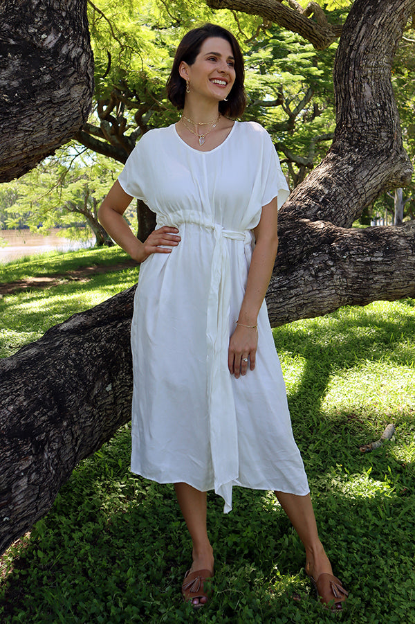 Helio Dress White - Kabana Shop