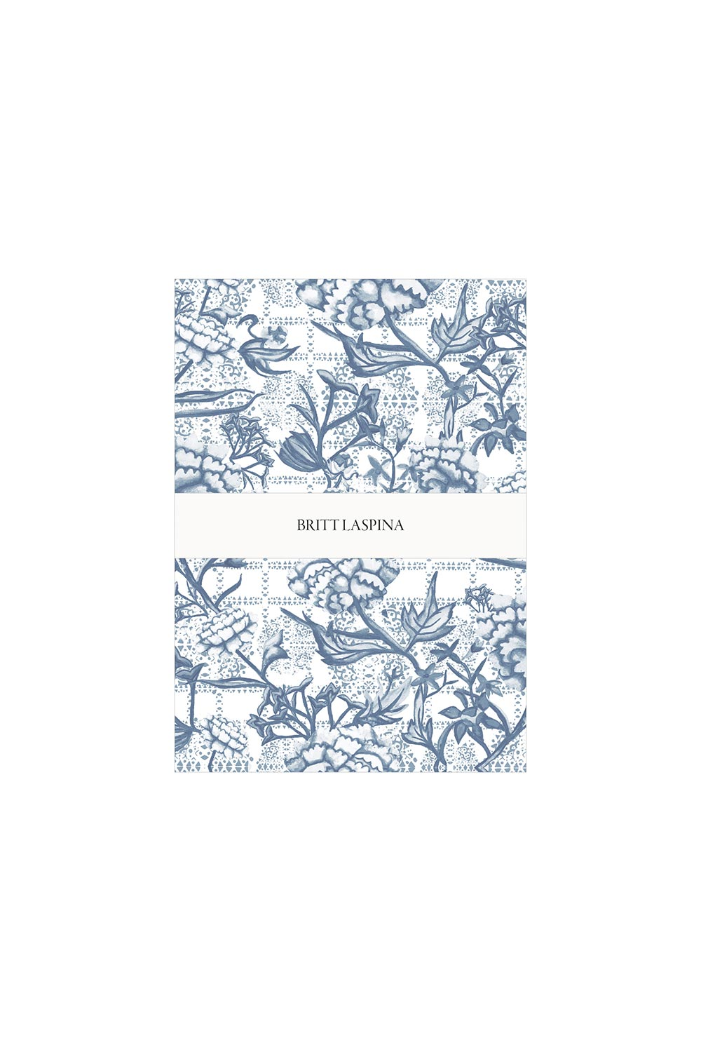 Britt Laspina Tea Towel - Navy Peonia - Kabana Shop