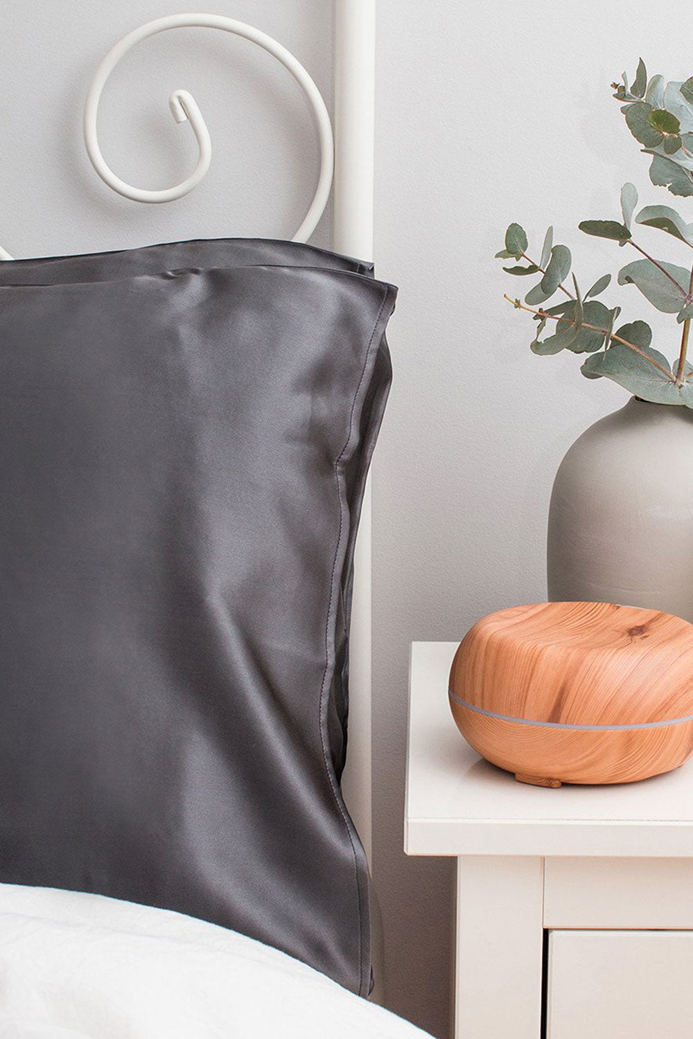 The Goodnight Co Silk Pillowcase - Charcoal - Kabana Shop