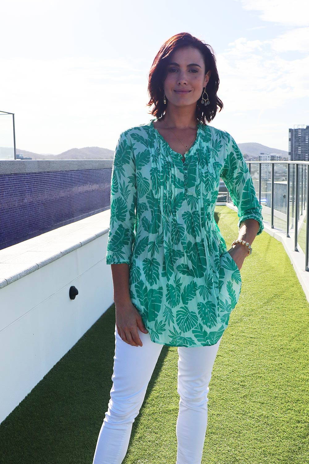 Porto Tunic Green - Kabana Shop