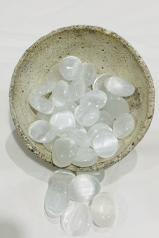Selenite Palm Stones - Kabana Shop
