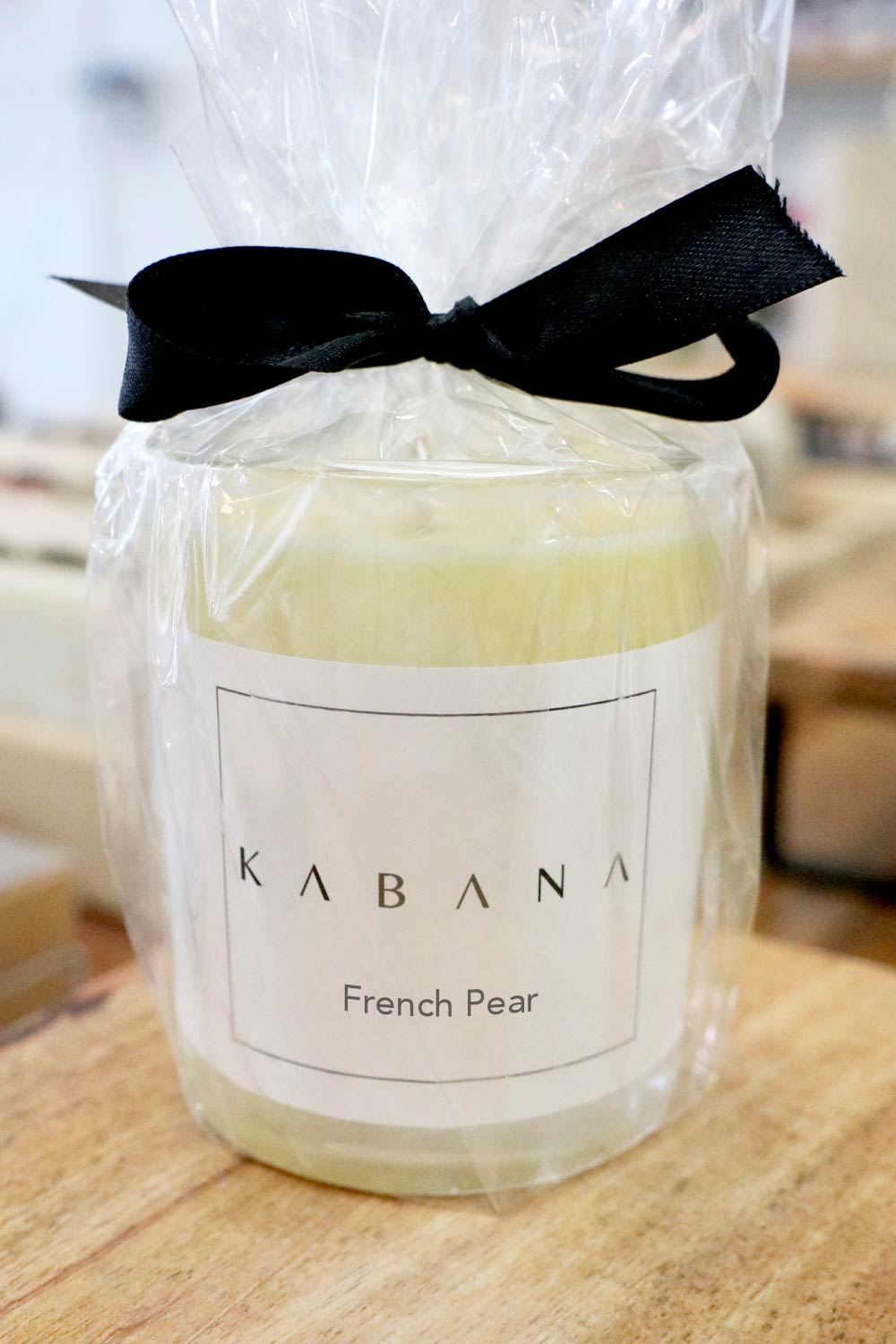 Small Glass Candle French Pear - Kabana Shop