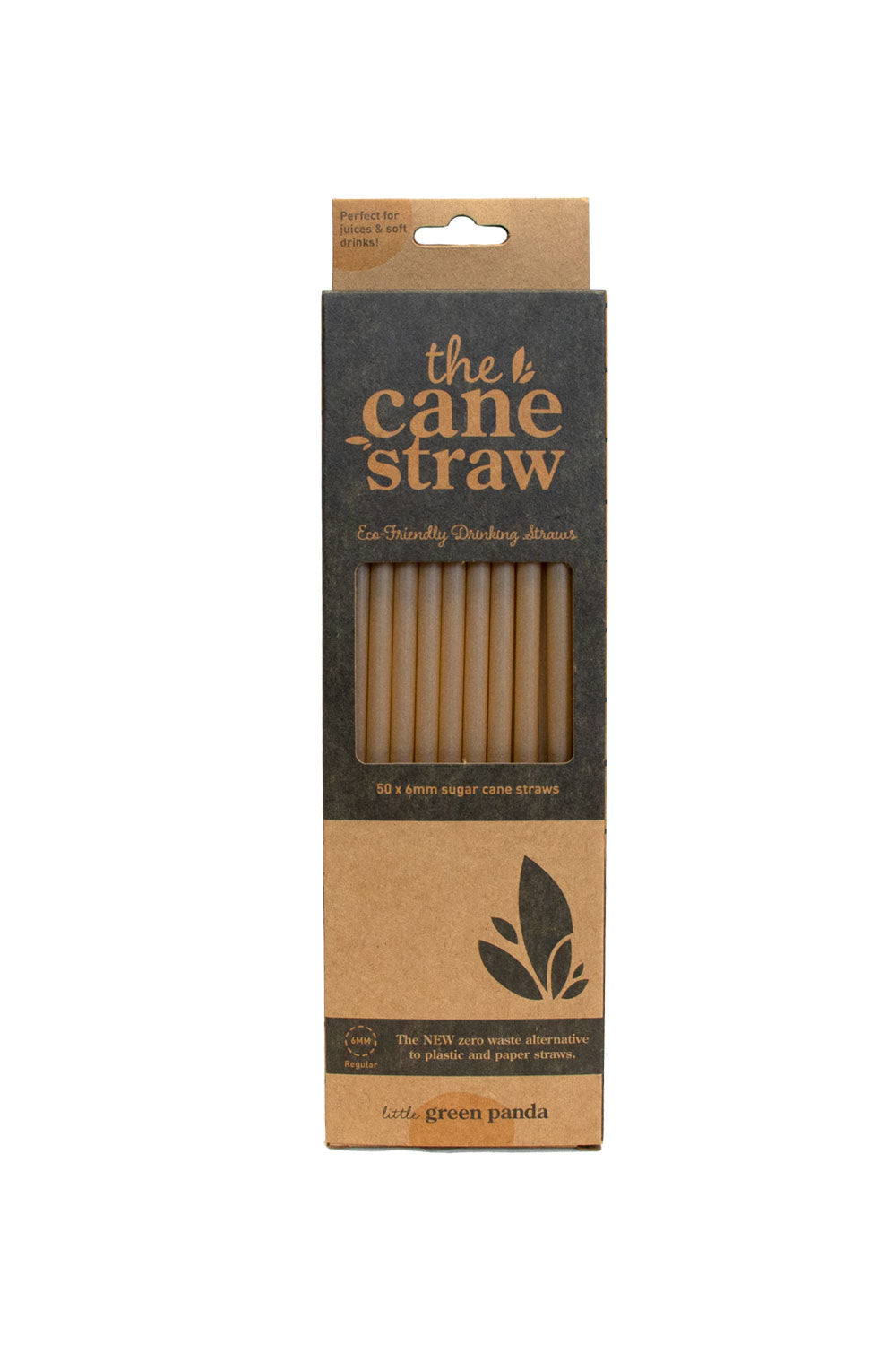 Sugar Cane Straws-6mm-50pk - Kabana Shop