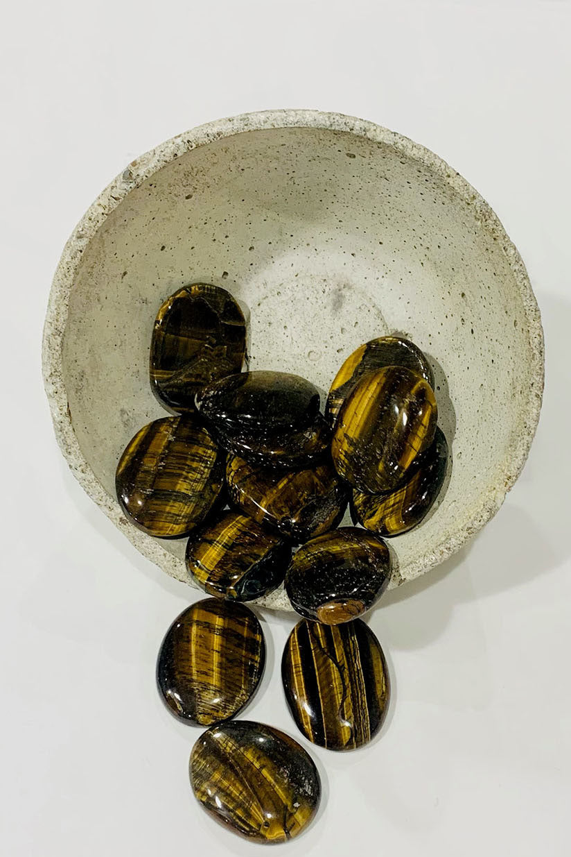 Tiger Eye Worry Stone - Kabana Shop