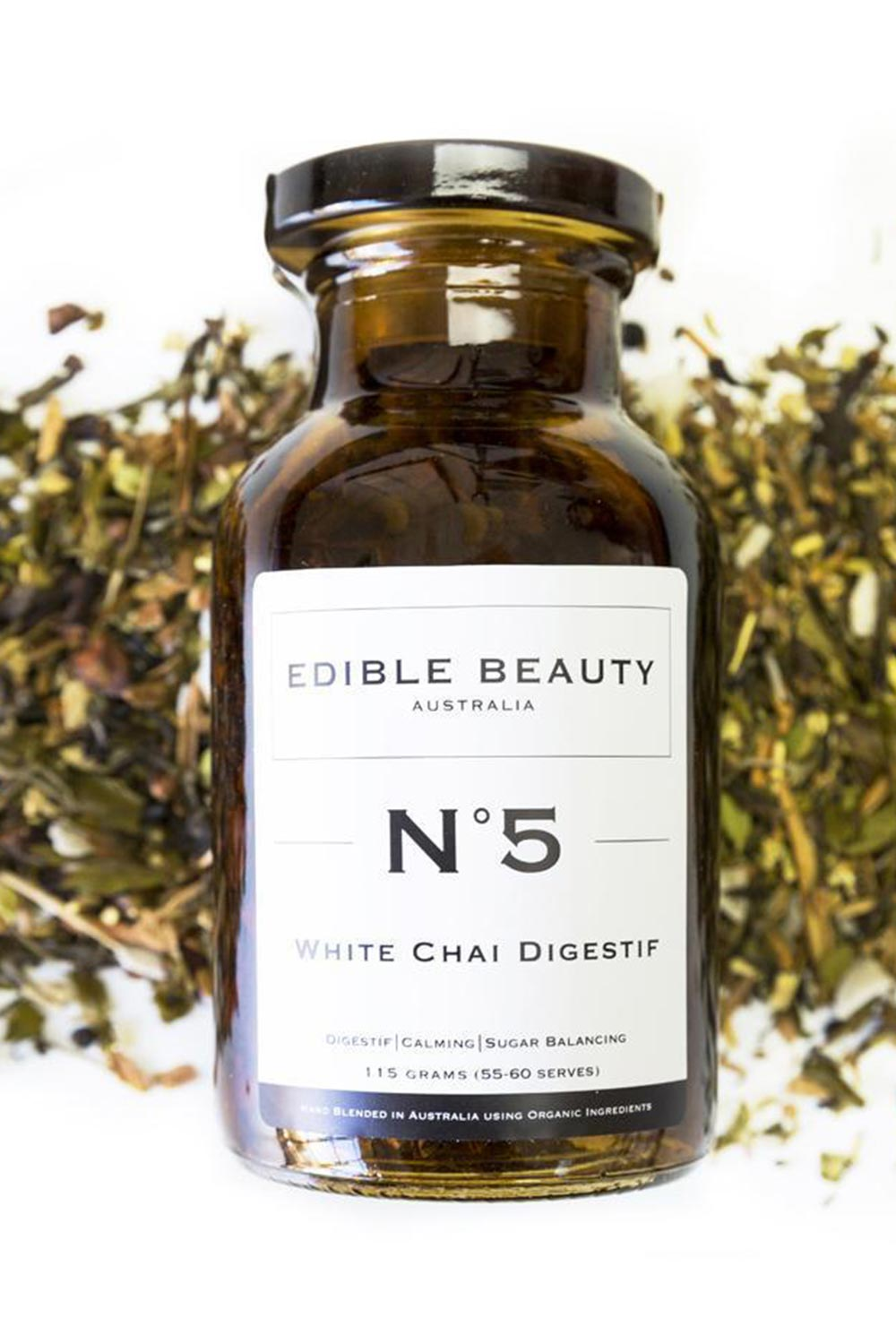Edible Beauty No.5 White Chai Jar - Kabana Shop
