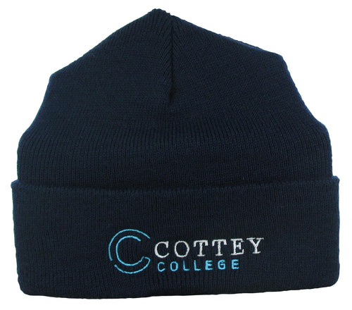 Cottey Academic Knit Beanie Hat