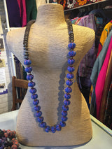 Anokhi Coconut button threaded necklace