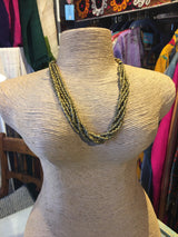 Brass beaded tribal necklace