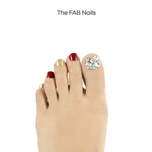 Dazzling Little Piece (Toe Nails)