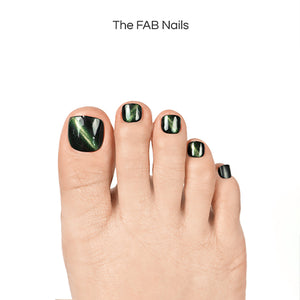Northern Lights-(Toe Nails)