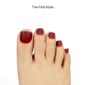 Almost Red (Toe Nails)