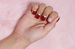 Glitter Red - The Fab Nails